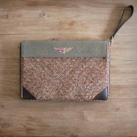 Tweed & Leather Clutch
