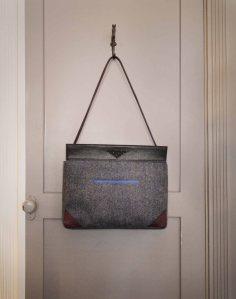 Tweed & Leather Shoulder Bag