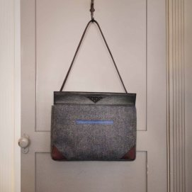 Tweed & Leather Shoulder Bag