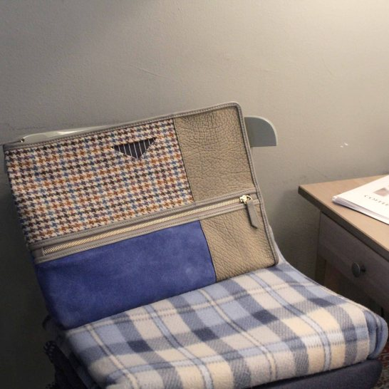 Tweed & Leather Briefcase