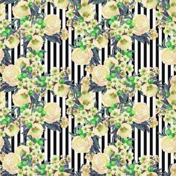 flower stripe print1-1