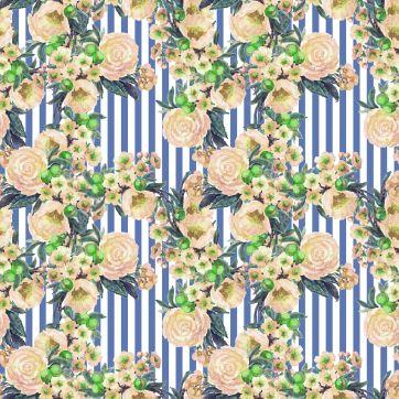 flower stripe print1-2