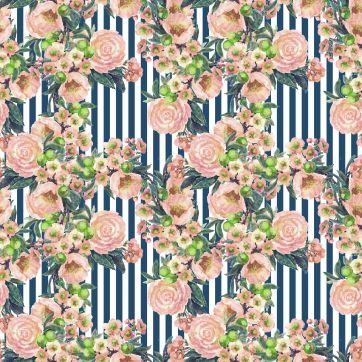 flower stripe print1-5