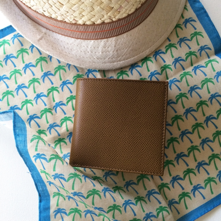 brown menwallet styling front
