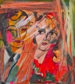 LOYAL-Jackie Gendel, An Oblique Look, oil on panel, 27x24in, 2012